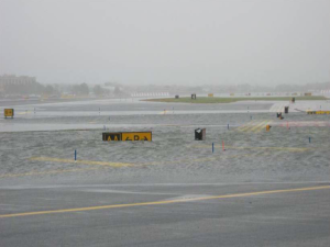 La Guardia Airport during Hurricane Sandy (Port Authority of New York).