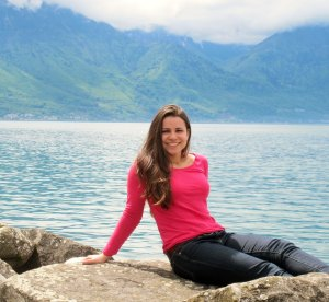 Claudia Gutierrez in Montreaux, Switzerland, which is near where she is currently working as a Whitaker Undergraduate Scholar.