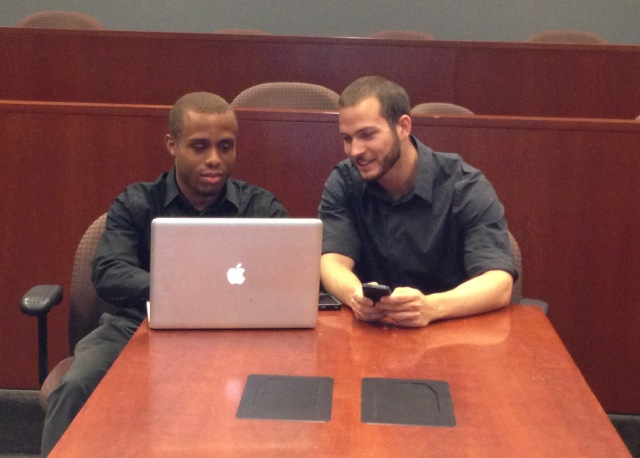 chris and nick with Scholly App