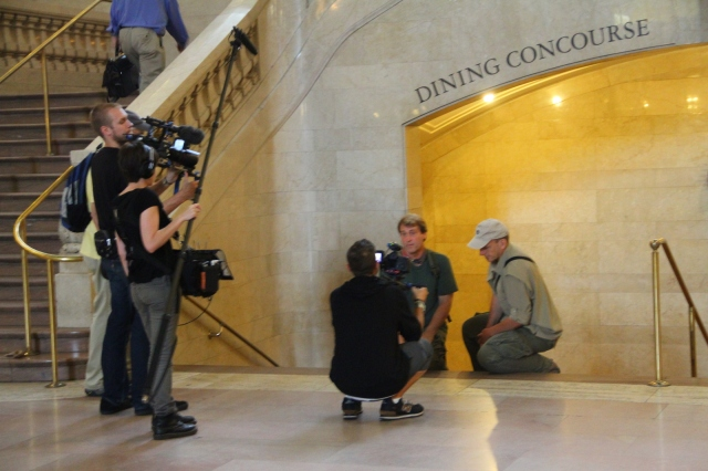 Ken Lacovara and Richard Wiese find fossils at Grand Central Station
