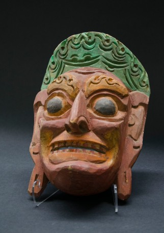 A wooden mask from Mexico.