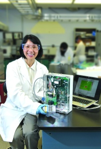 With support from the Coulter Program, Dr. Wan Shih developed a piezoelectric device for non-invasive breast cancer detection.