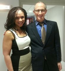 Melissa Harris-Perry posed with David S. Cohen at the MSNBC studio following his appearance on the show