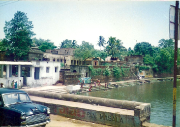 A photo taken by Menon of Bindusagar Pond during her research in India