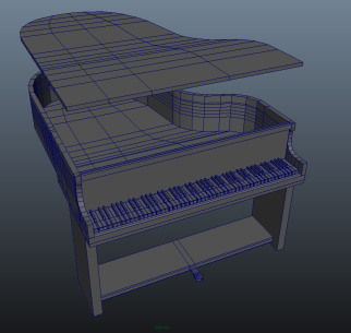 Students digitally created each piece of furniture and every interior detail of the ship's Promenade Deck.