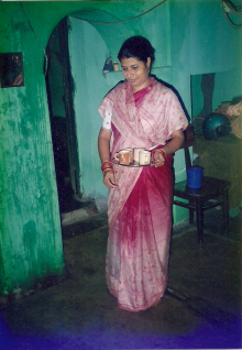 This photo by Menon is of a 'senior wife' in one of the households she studied