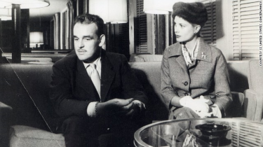 Prince Rainier and Princess Grace of Monaco aboard the SS United States.