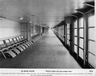A look at the 550-foot Promenade Deck.