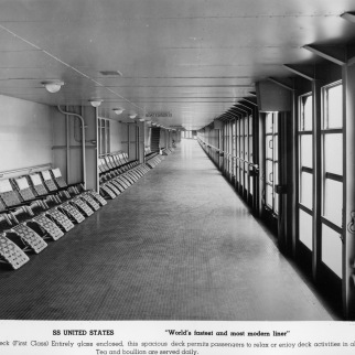 A look at the 550-foot Promenade Deck.