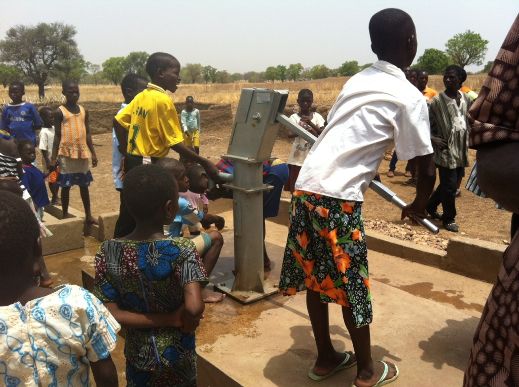 Pumping water in northern Ghana