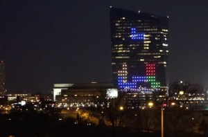 On Friday, April 4, Frank Lee will turn the Cira Centre into a giant game of Tetris.