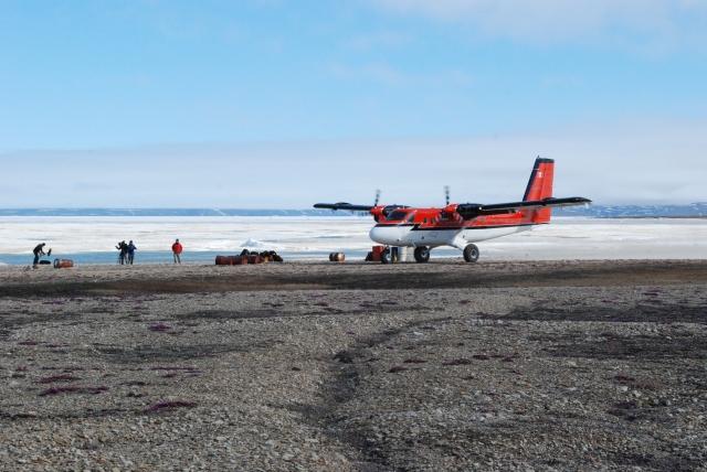 Okse landing strip. Nunavut 2013.