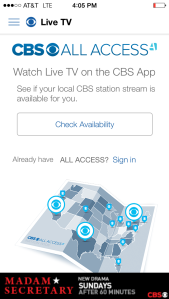 Subscribers will be able to stream live CBS content online in 14 selected markets -including Philadelphia.