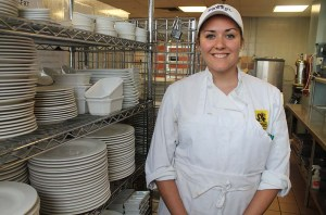 Drexel student Ally Zeitz on co-op at High Street on Market. The Philadelphia establishment was named second best new  restaurant in the country by Bon Appetit magazine