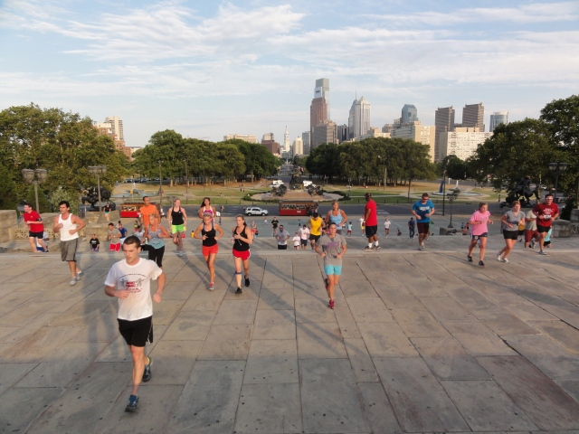 Runners at the Philadelphia Museum of Art