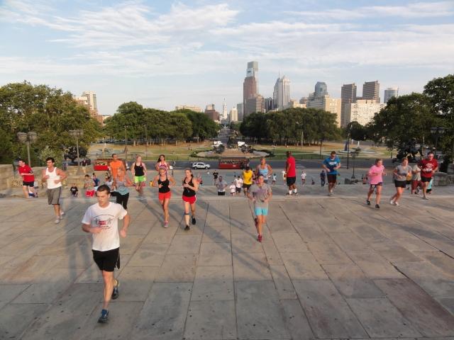 Runners at the Philadelphia Museum of Art