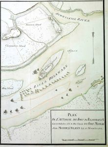 Positioned in the Delaware river near Fort Mifflin, the spear-like weapons, combined with land-base artillery, were an effective deterrent for British ships.
