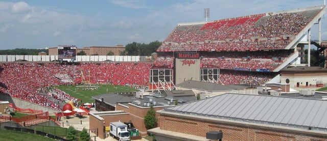 "The University of Maryland's Byrd Stadium, named for former UMD President Harry Clifton ""Curley"" Byrd."
