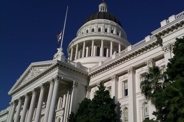 Capitol building from low angle