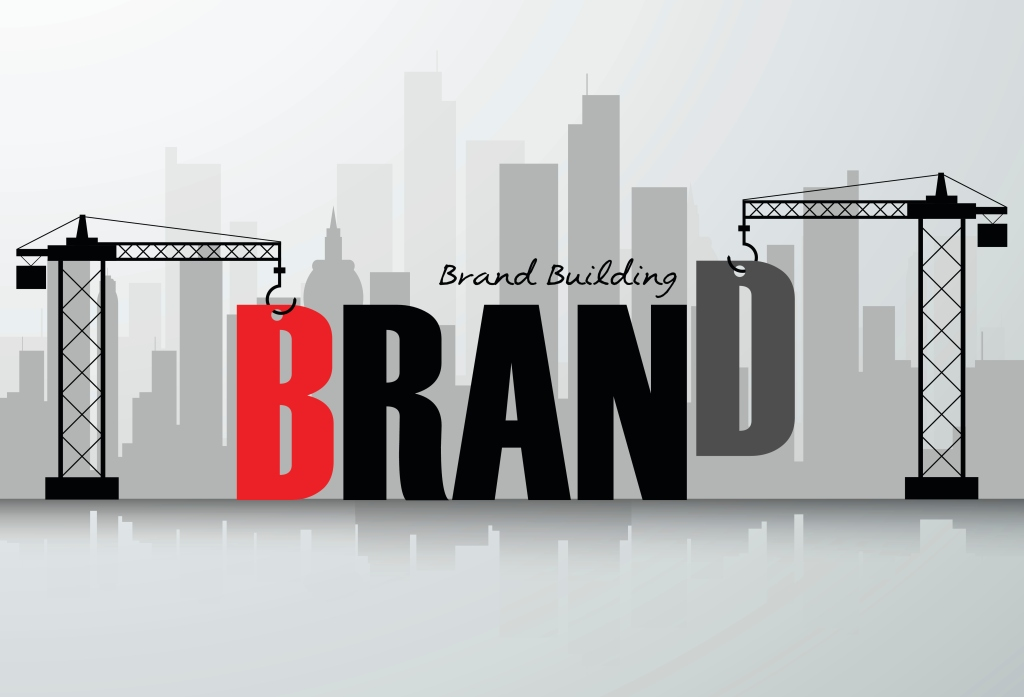 Design brand building concept, vector illustration.