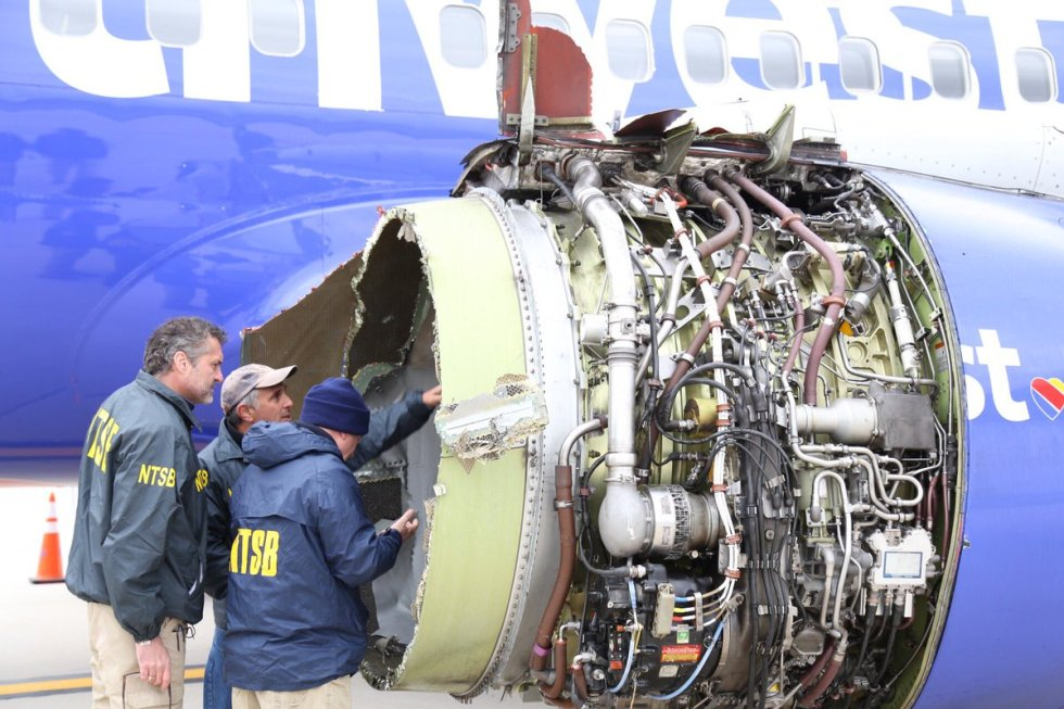 inspection of Southwest Flight 1380