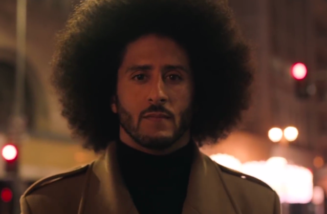 screenshot of Kaepernick in the Nike ad
